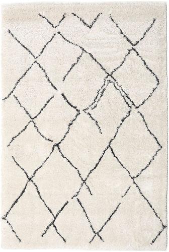 Shaggy Agadir - Off-White / Mørk Grå teppe CVD19364