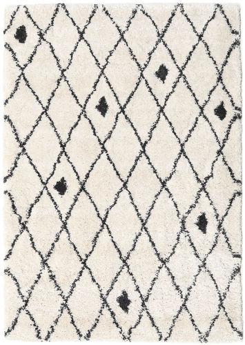 Shaggy Zanjan - Off-White / Tumma Harmaa-matto CVD19583