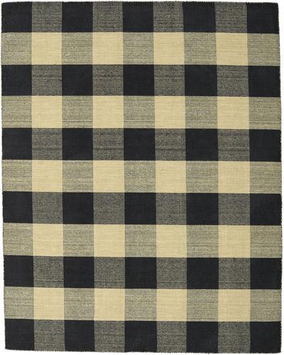 Check Kilim - Black / Gold rug CVD18342