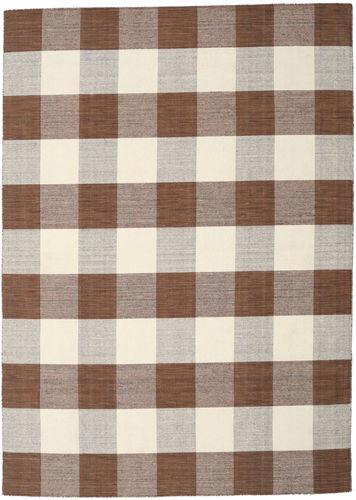 Check Kilim - Brown / White carpet CVD18348