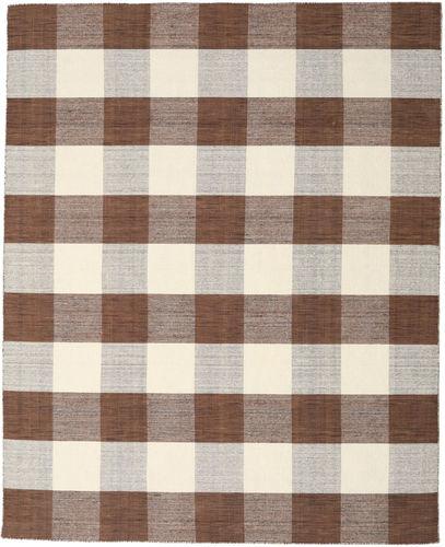 Check Kilim - Brown / White carpet CVD18349