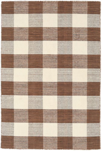Check Kilim - Brown / White carpet CVD18355
