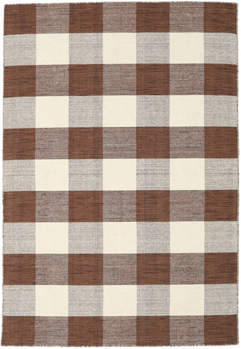 Check Kilim - Bruin / Wit tapijt CVD18352