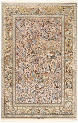 Isfahan silkerenning teppe AXVZZZL331