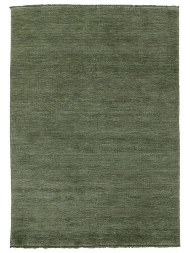 Handloom fringes - Forest Green carpet CVD19146