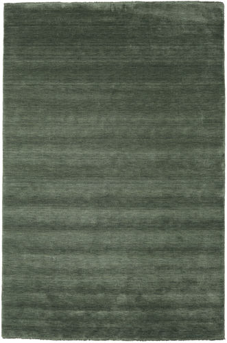 Handloom fringes - Forest Green carpet CVD19290