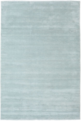 Handloom fringes - Ice Blue rug CVD19115