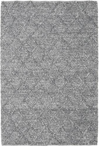 Rut - Mørk grå Melange teppe CVD20204