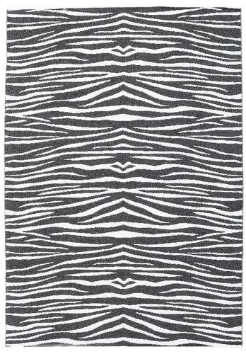 Zebra - Sort tæppe CVD21678