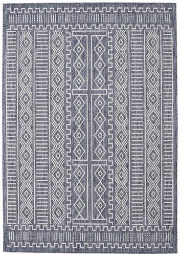 Peru - Mörkblå / Beige matta RVD20557