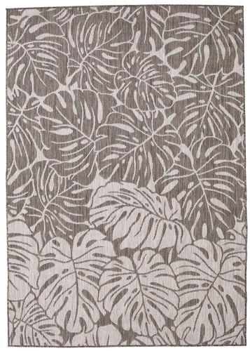 Monstera - Bruin / Lichtgrijs tapijt RVD20551