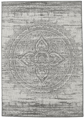 Mandala - dunkelgrau / Beige Teppich RVD20620
