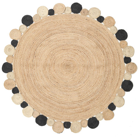 Solana Dot Jute - Natural / Black carpet CVD20266