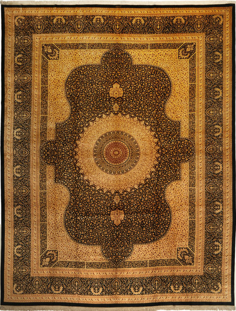 Ghom Seide signatur Razavi 340×436  CarpetVista