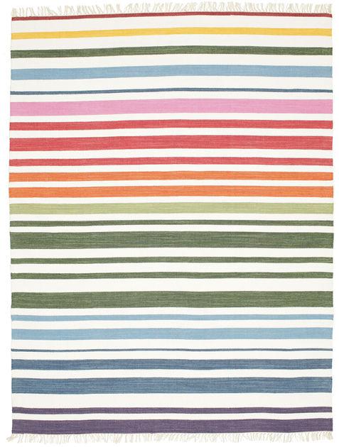 rainbow stripe blanc 200x250 rugvista. Black Bedroom Furniture Sets. Home Design Ideas