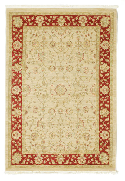 farahan ziegler beige rouge 140x200 rugvista. Black Bedroom Furniture Sets. Home Design Ideas