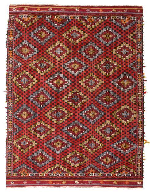Kilim semi antichi turchi 195x254 carpetvista - Tappeti turchi vintage ...