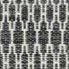 Kilim Long Stitch - Black / Grey