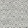 Kelim Goose Eye - Zwart / Grijs
